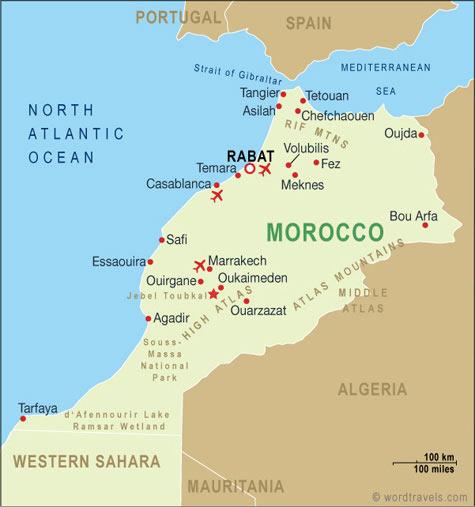 ข้อมูลทั่วไปประเทศโมร็อกโก